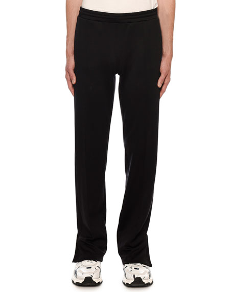 Image 1 of 3: Valentino Men's VLTN Straight-Leg Jersey Track Pants
