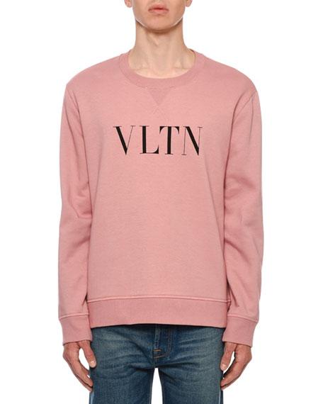 Valentino Men's VLTN Logo Typographic Sweatshirt