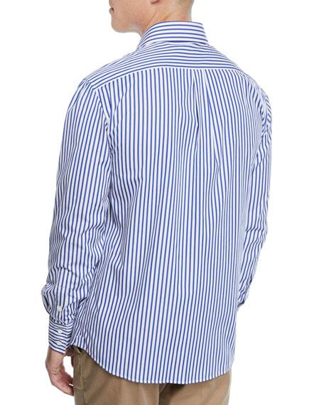 Brunello Cucinelli Men's Striped Dress Shirt