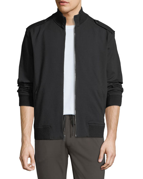PAIGE Men's Military TRANSCEND-Knit Bomber Jacket