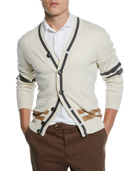 Brunello Cucinelli Men's Varsity Cardigan
