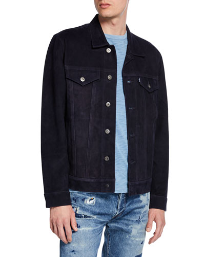 Men's Type III Suede Trucker Jacket