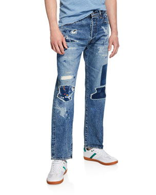 48fede3625b Levi s Made   Crafted Men s Made   Crafted 501® Original-Fit Distressed  Jeans