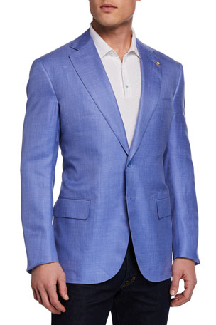 Stefano Ricci Men's Solid Sport Coat Jacket