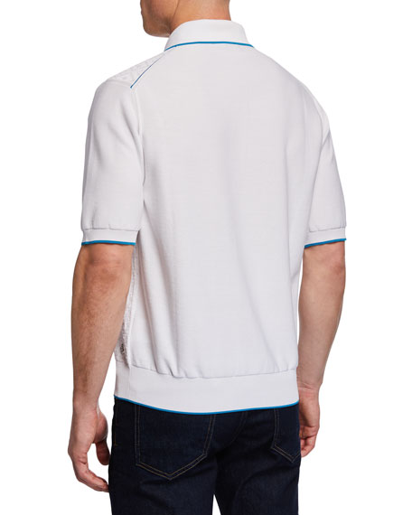 Stefano Ricci Men's Short-Sleeve Contrast-Tipped Polo Shirt