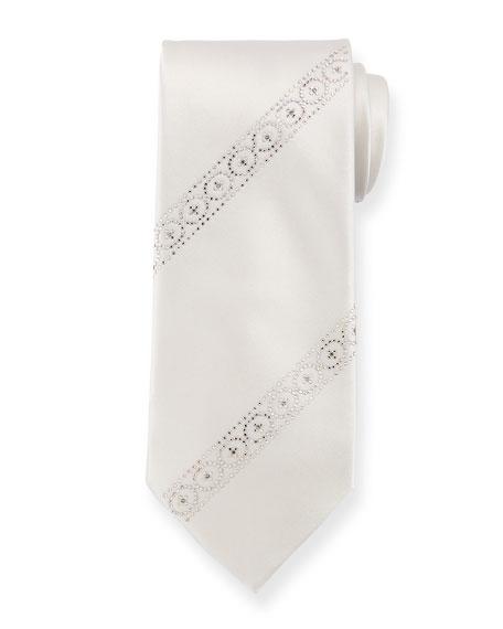 Stefano Ricci Swarovski® Crystal Silk Tie