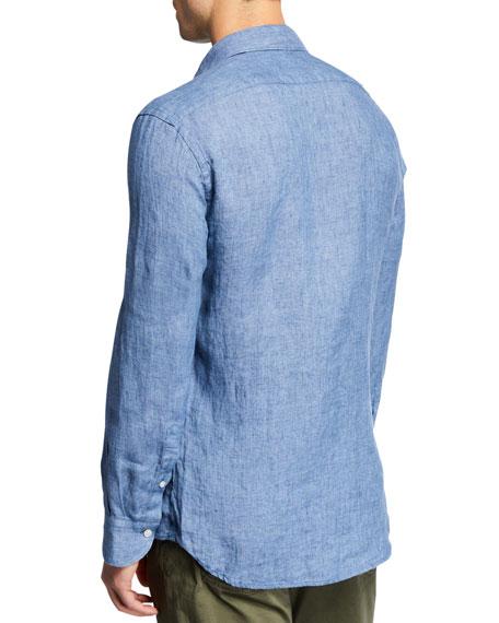 Neiman Marcus Men's Linen Sport Shirt