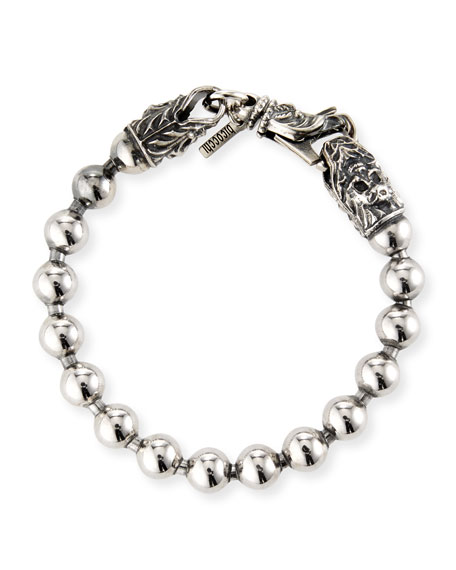 Emanuele Bicocchi Men's Ball-Chain Sterling Silver Bracelet