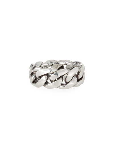 Men's Rigid Curb Chain Ring