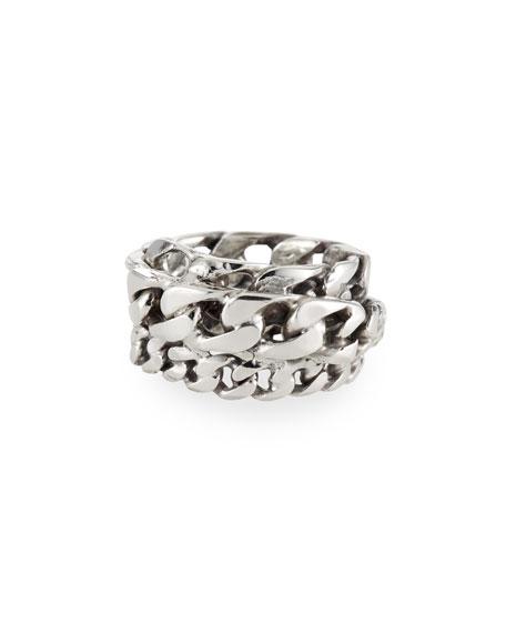 Emanuele Bicocchi Men's Spiral Curb Chain Ring