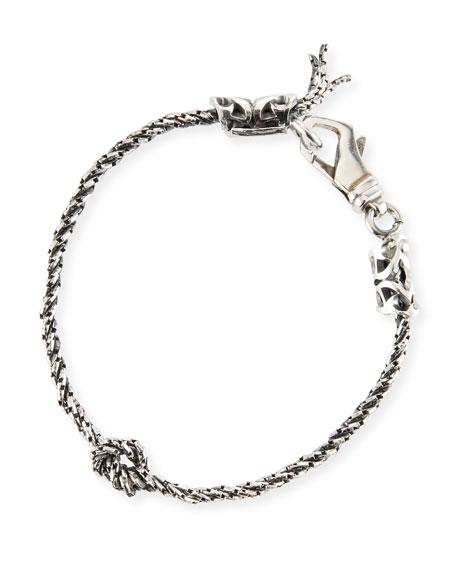 Emanuele Bicocchi Men's Rope Chain Bracelet w/ Knot