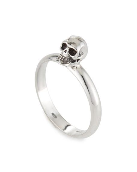 Emanuele Bicocchi Men's Carved Skull Ring