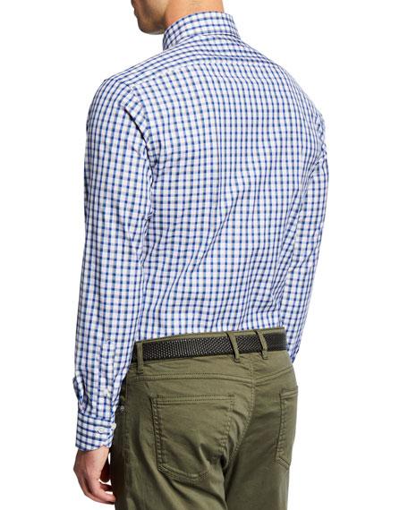 Neiman Marcus Men's Tricolor Plaid Sport Shirt