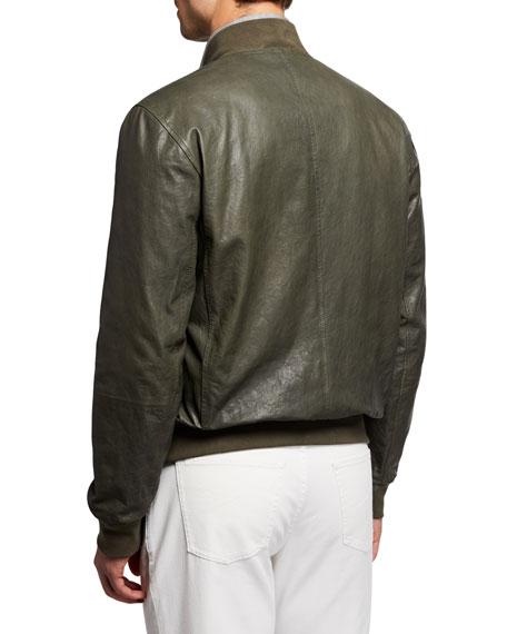 Brunello Cucinelli Men's Full-Zip Bomber Jacket