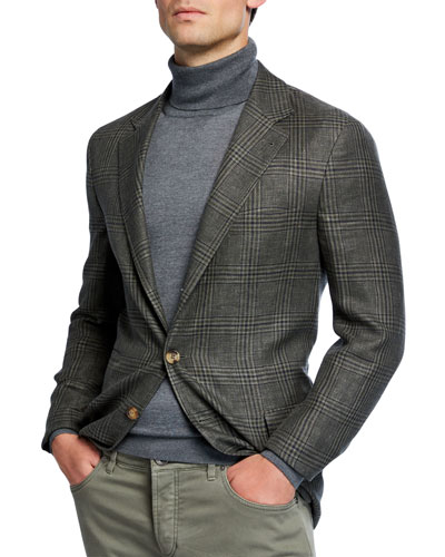 Men's Prince of Wales Plaid Sportcoat