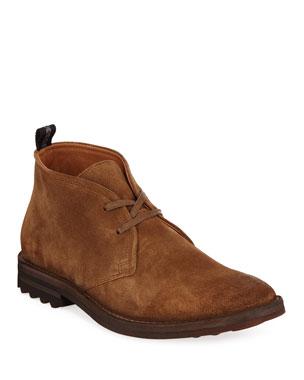 942a610802ed John Varvatos Men s Stanton Suede Chukka Boots