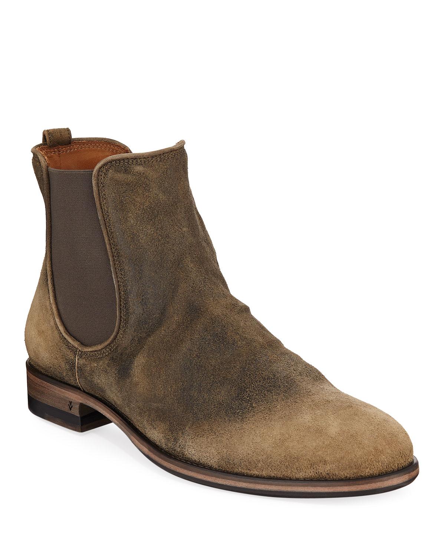 45f10ad3822f John Varvatos Men s Fleetwood Suede Chelsea Boots