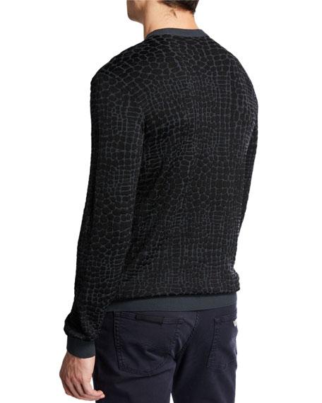 Emporio Armani Men's Animal-Pattern Crewneck Sweater