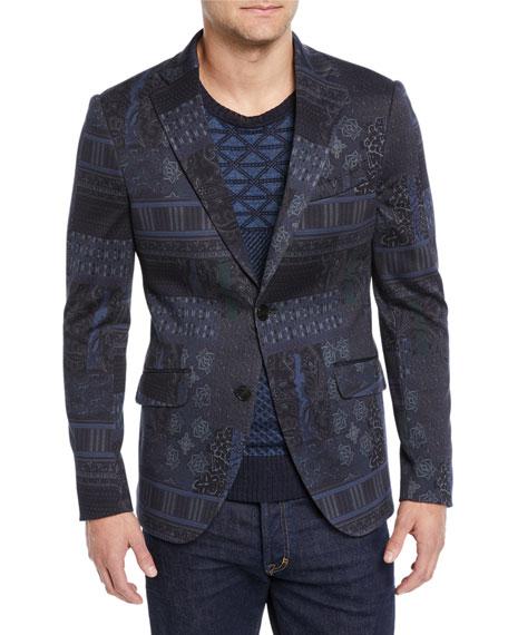 Etro Men's Graphic-Print Sport Coat Jacket