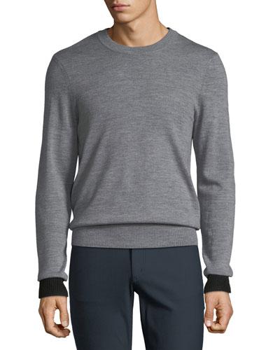 Men's Striped Merino Knit Sweater
