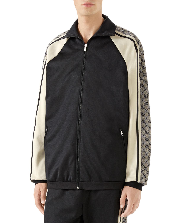 277d53913 Gucci Men's GG Logo Track Jacket | Neiman Marcus