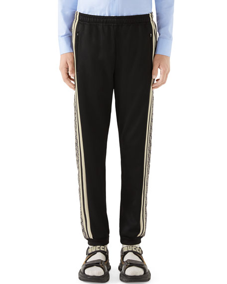 Gucci Men's Cut-And-Sewn GG-Logo Track Pants