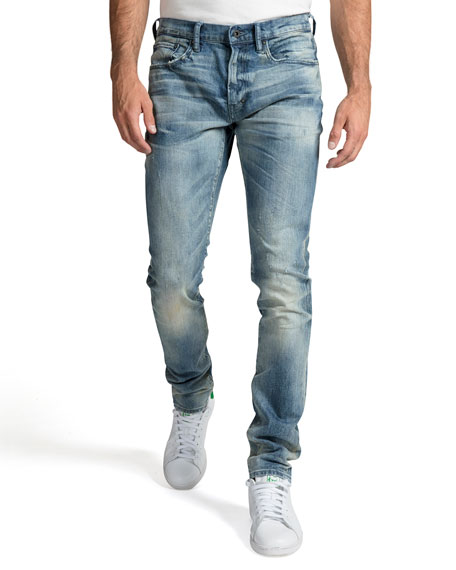 PRPS Men's Windsor Stretch Light Wash Denim Jeans