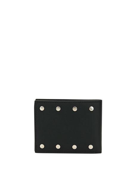 Salvatore Ferragamo Men's Giano Studs Bi-fold Wallet