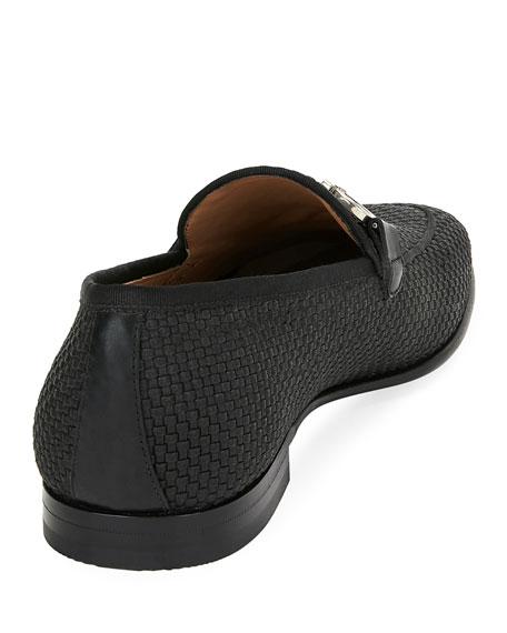 Salvatore Ferragamo Men's Ascona Woven Leather Loafers