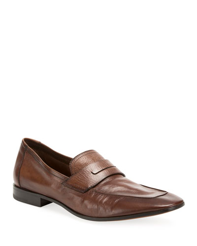Men's Incrociato Leather Loafers