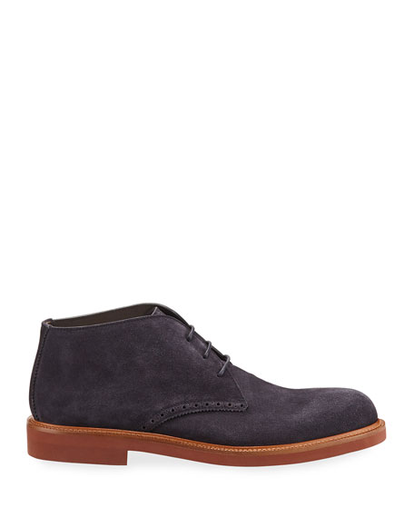 Ermenegildo Zegna Men's Trivero Suede Ankle Boot