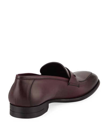 Ermenegildo Zegna Men's New Flex Leather Penny Loafers