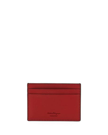 Salvatore Ferragamo Men's Block Color Ayers Stripe Card Case