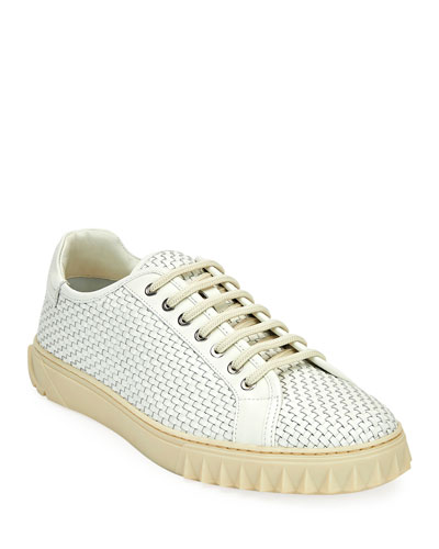 Men's Cube 17 Woven Leather Sneakers