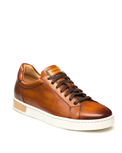 Men's Boltan Caballero Hand-Painted Leather Low-Top Sneakers