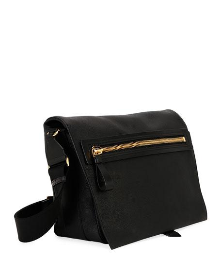 TOM FORD Men's Large Leather Messenger Bag
