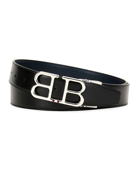 Bally Men's Britt B-Buckle Belt - Chrome Hardware