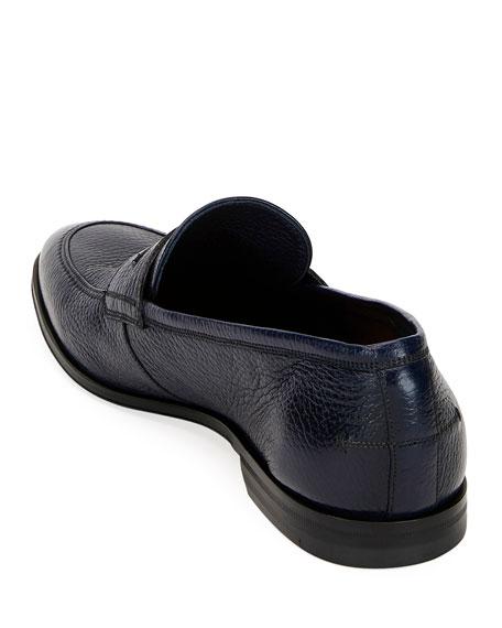 Bally Men's Webb Leather Penny Loafers, Dark Blue   Neiman ...
