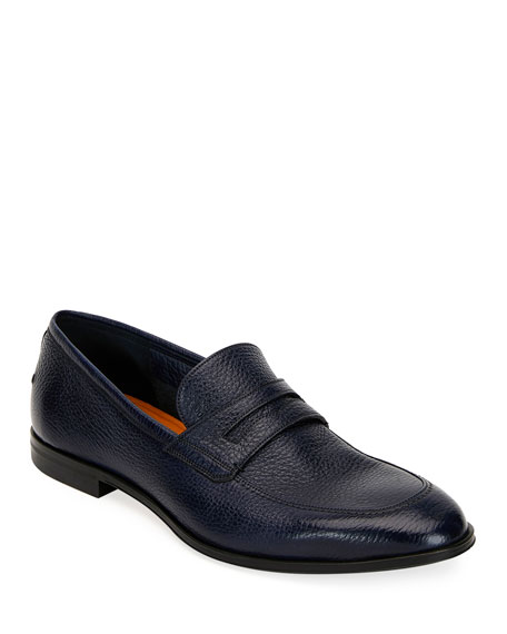 Bally Men's Webb Leather Penny Loafers, Dark Blue