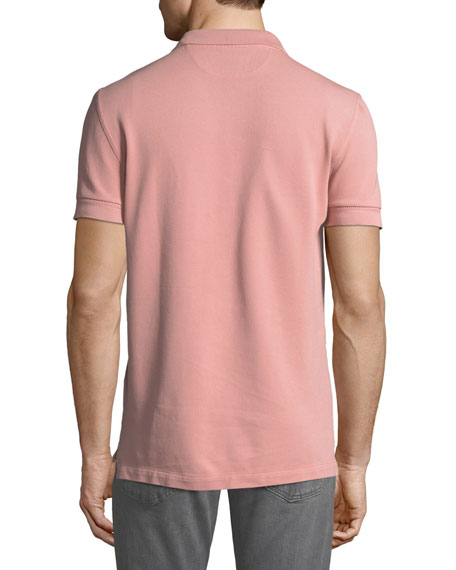 TOM FORD Men's Pique Knit Polo Shirt, Pink