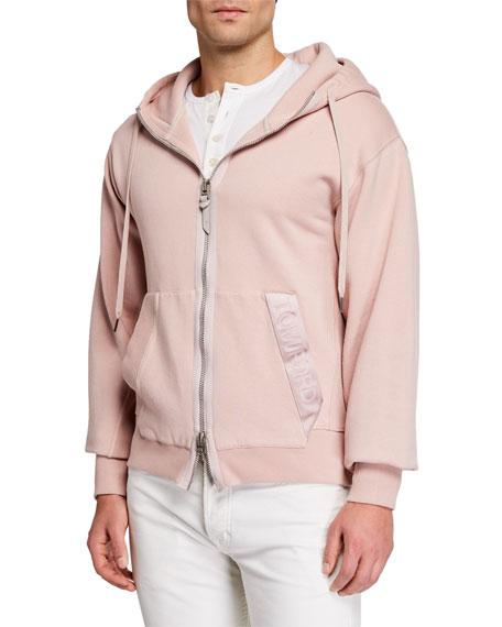 TOM FORD Men's Garment Dyed Hoodie Sweatshirt, Pink