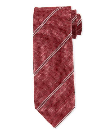 TOM FORD Men's Striped Silk/Linen Tie