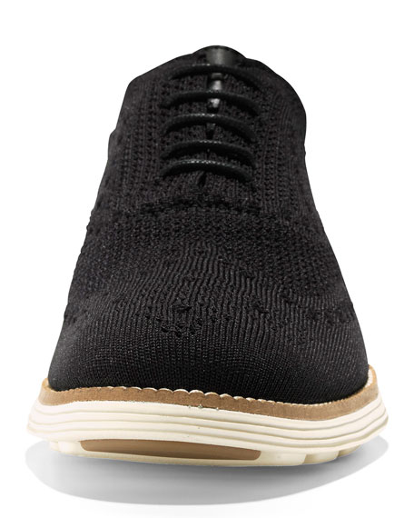 Cole Haan Men's ZeroGrand Knit Oxford Sneakers, Black