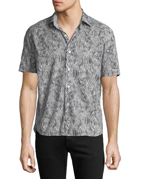 Culturata Men's Zebra Print Shirt