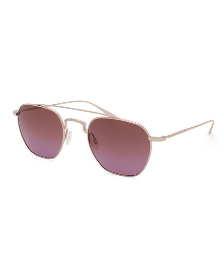 Barton Perreira Men's Doyen Metal Aviator Sunglasses