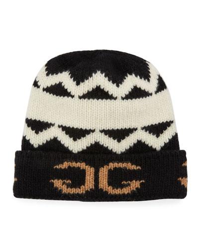 Men's Peruss Logo-Knit Beanie Hat