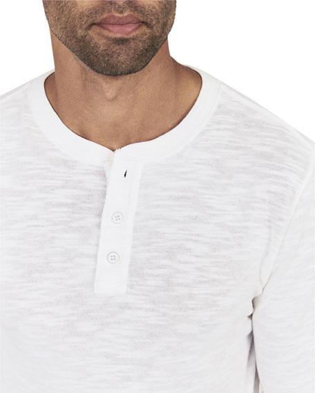 b6945c6a Faherty Men's Slub Cotton Henley Shirt | Neiman Marcus