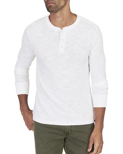 Men's Slub Cotton Henley Shirt
