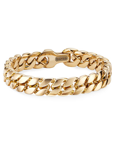 Men's 18k Gold Curb Chain Bracelet  11.5mm  Size L
