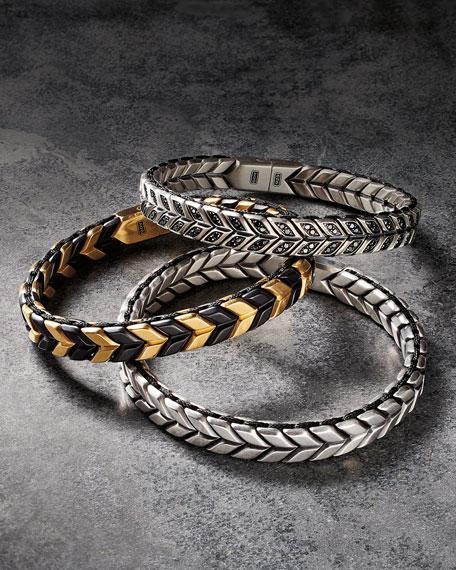 David Yurman Men's Chevron Woven Silver Bracelet